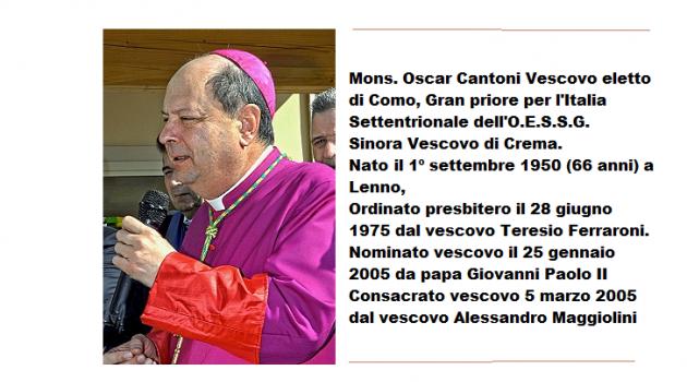 Monsignor Oscar Cantoni è il nuovo vescovo di Como